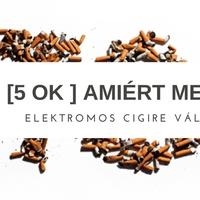 5 ok, amiért megéri elektromos cigire váltani