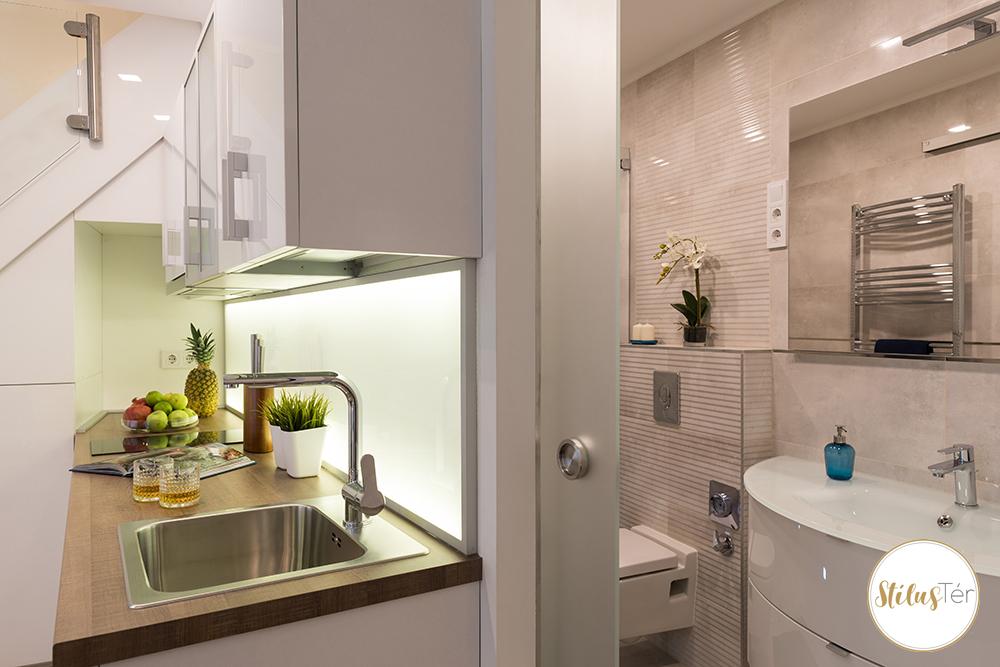 Konya és fürdőszoba - home staging - ingatlan styling