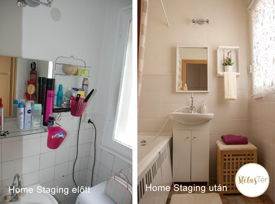 Fürdőszoba - Home Staging előtt és után