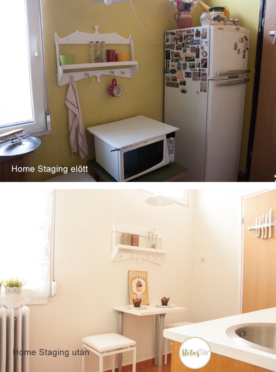 Konyha - Home Staging előtt és után