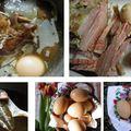 Húsvéti sonka levében főtt tojás és a szalonnabőrös abalében főtt tojás aszódi meséje