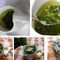 Fokhagymás petrezselymes olíva öntet húshoz salátához húsokhoz krémhez