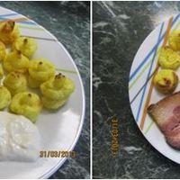 Dorisz főtt sült sonkás húsvéti ebédje hercegnő burgonyával