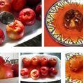 Sült alma fahéjas szilvával töltve kompótlével sütve