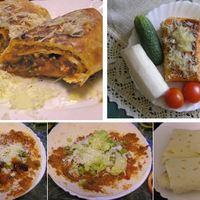 Mexikóban evett mezei burrito idehaza azaz babos sajtos csomagolt tortilla