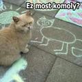 Aszfaltfestmény a cicáról