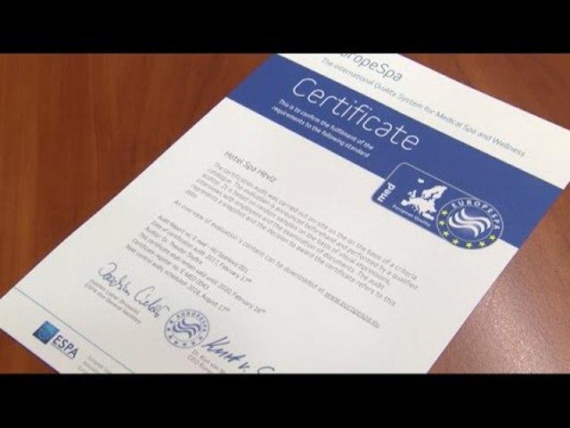 EuropeSpa MED védjegy a Hévízi Tófürdőnek és szállodájának