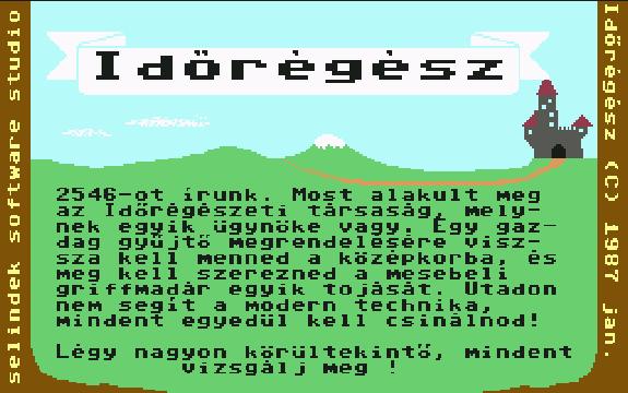 Időrégész, régi magyar játék