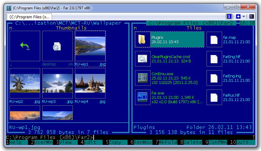 Grafikus parancssor Windowsra fájlkezelővel