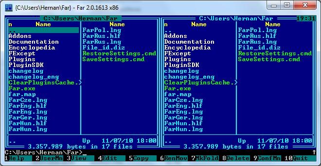 Kedvenc Windows-os fájlkezelőnk, a FAR Manager