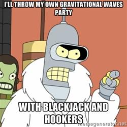 Mém: Bender a Futuramaból saját gravitációs hullám bulit csap