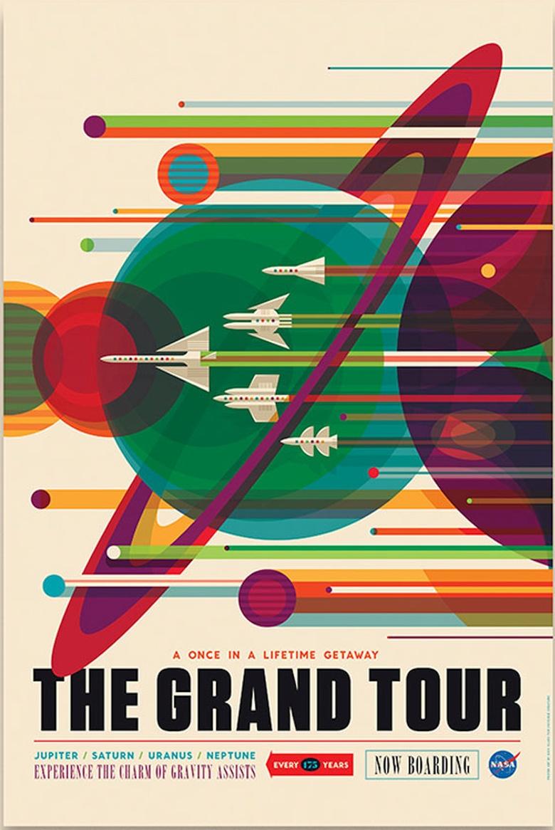 A NASA fiktív űrturizmusra hívó plakátjai