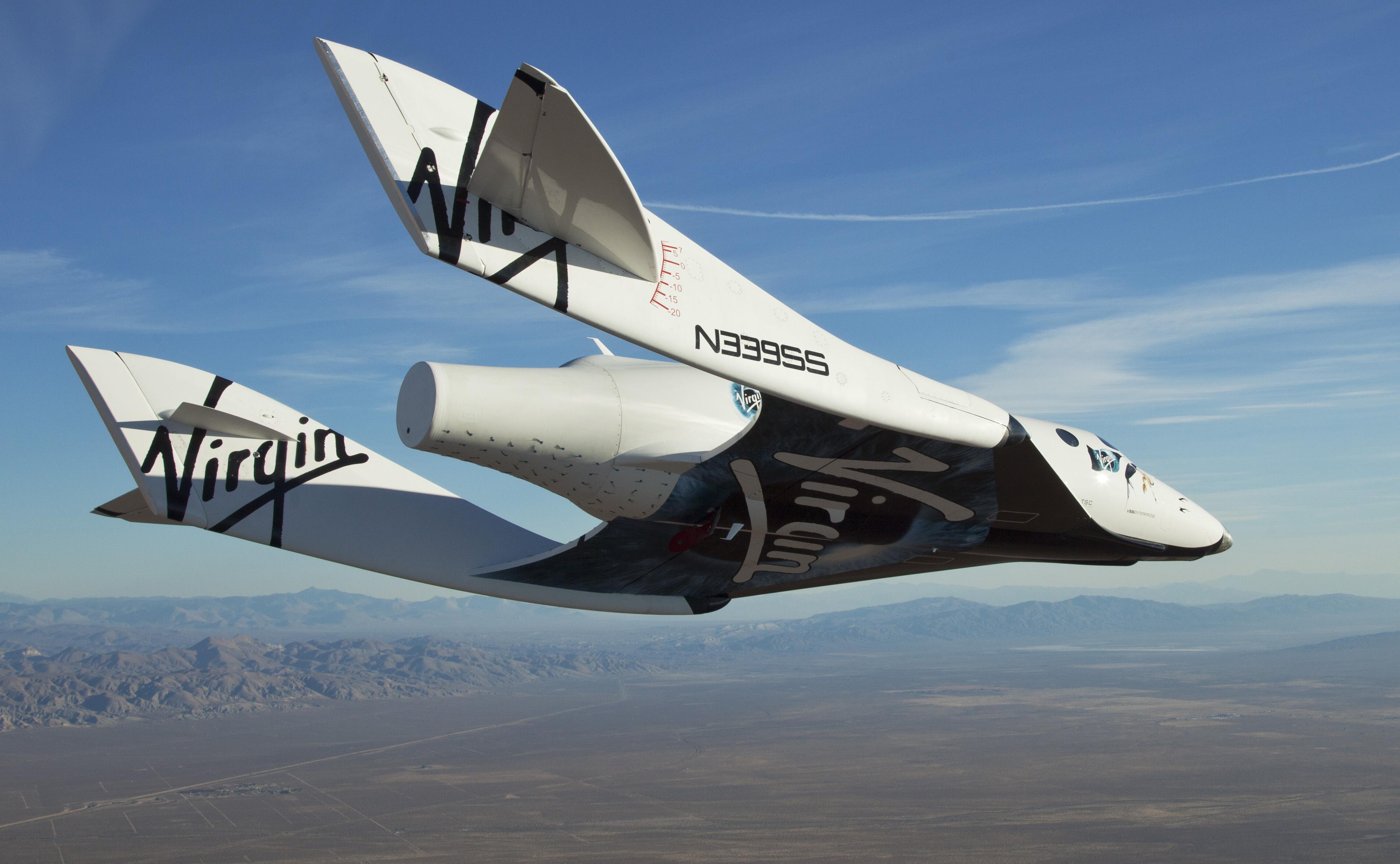 A Virgin Galactic SpaceShipTwo nevű űrhajója