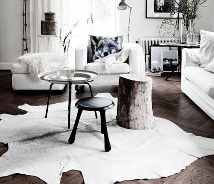 Kötelező elem: marhabőr szőnyeg