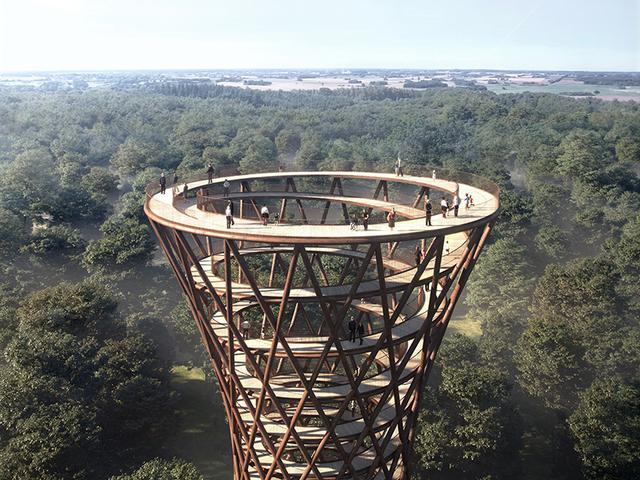 Lélegzetelállító panoráma egy lélegzetelállító kilátóból