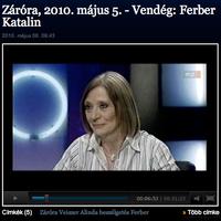 Záróra - Vendég Ferber Katalin