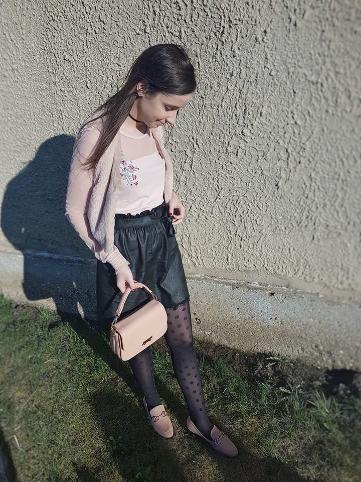 Hogyan viselj egy mintas harisnyat? - Elso Tavaszi Outfit