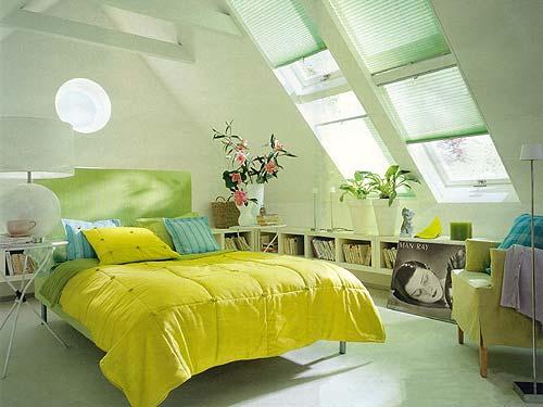 Tetőtéri hálószoba - Szép házak, otthonok