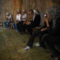 Chakchak/iranian tourists at zoroastrian holy place Chakchak