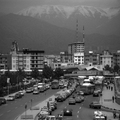 Tehran under Mt.Tochal/Sadeghieh metro station