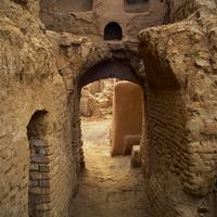 Ancient skull-shape gate in Karanaq/Lut desert, Yazd provonce