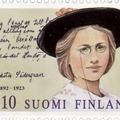 Edith Södergran finn költőnő kézírása