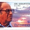 Bruno Kreisky aláírása alkalmi bélyegen