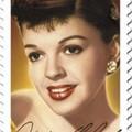 Judy Garland aláírása a Hollywoodi legendák sorozat bélyegén