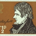 Walter Scott kézjegye brit bélyegen