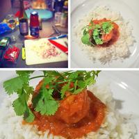 Curry (Patia) rákkal és basmati rizzsel