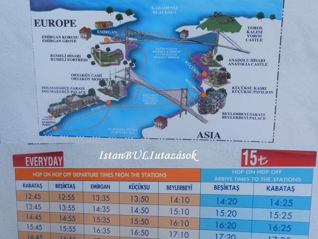 Hop on hop off a Boszporuszon!