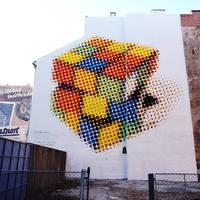 250 négyzetméteres Rubik kocka a feltaláló tiszteletére