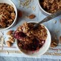 Villám desszert – fűszeres erdei gyümölcsös crumble