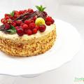 Vaníliás-gyümölcsös torta!