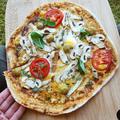 Padlizsános-gombás pizza fehér liszt és élesztő nélkül!