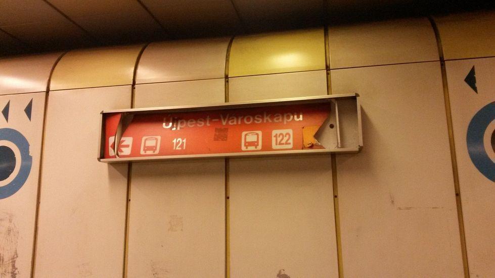 Újpest-Városkapu metrómegálló - Fotó: Lukács Máté