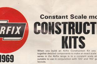 1969-es Airfix katalógus és egy kis extra