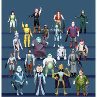 A kiadatlan Droids figurák