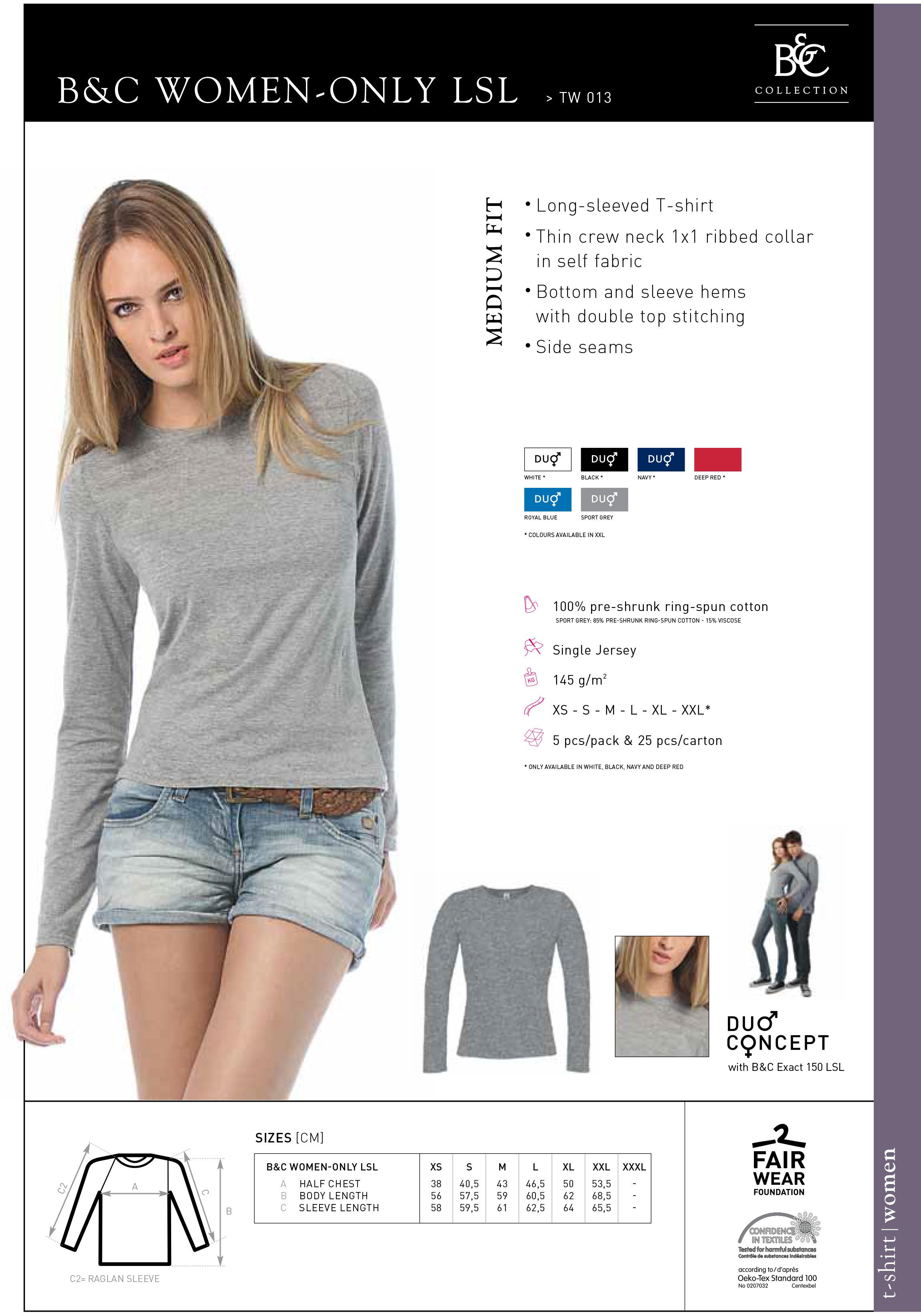 női hosszú ujjú póló
