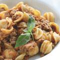 Orecchiette tészta bolognai szószban
