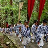 The pilgrimage of the Yamabushi priests to the sacred Mount Haguro