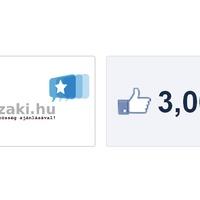 Facebook oldalunk elérte a 3000 like-ot