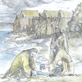 Gyerekkoponyák a tó haragvó isteneinek