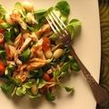 Füstölt fűszeres makréla saláta