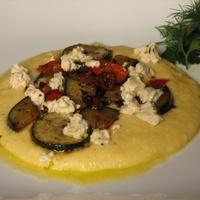 Grillzöldséges polenta  borsos Boursinnal recept
