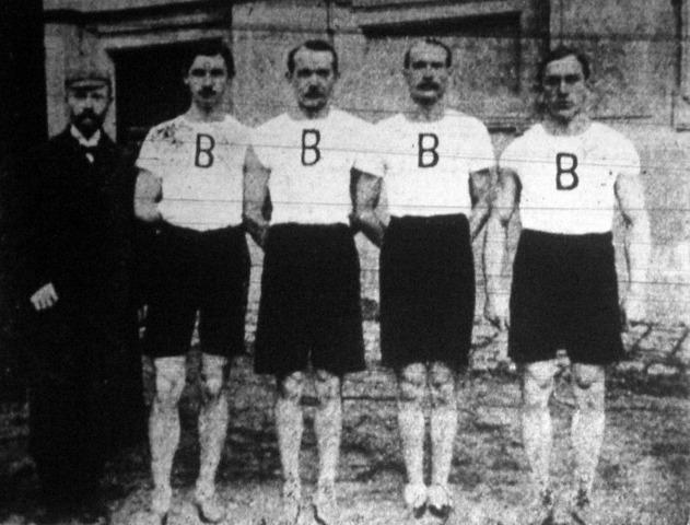 A Budapesti (Budai) Torna Egyesület tagjai 1905-ben, akik futóversenyen értek el fantasztikus eredményeket <br /><br />(forrás: http://www.huszadikszazad.hu/1906-februar/sport/a-budapesti-budai-torna-egylet-futo-csapata)