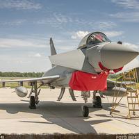 Brit Eurofighter Typhoon gépek Pápán