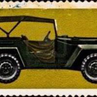 26. GAZ-67 terepjáró gépkocsi és a Bolt Action makettje