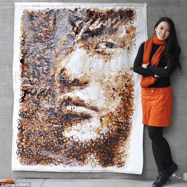 kávé portré Red Hong