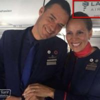 A LATAM légitársaság reklámfogása Ferenc pápa